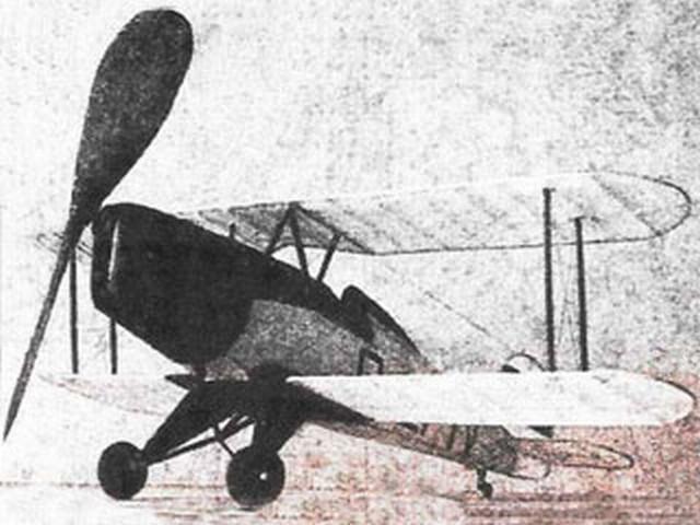 Bucker Jungmeister (oz1689) by AJ McRae from Model Airplane News 1938
