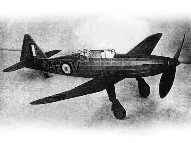 Boulton Paul Defiant (oz1699) by Earl Stahl from Air Trails 1942