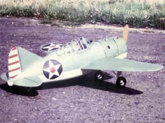 Brewster Buffalo (oz1707) by Peter Wheldon from Model Aircraft 1962