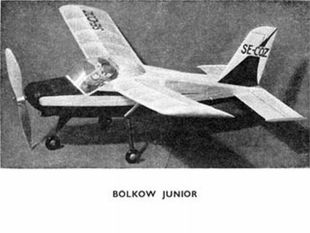 Bolkow Junior (oz1708) by Ray Malmstrom from Model Aircraft 1962
