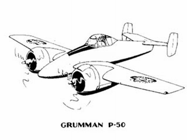 Grumman P-50 (oz1782) by Paul Plecan, Jack Minassian from Aircraft Plan Co 1942