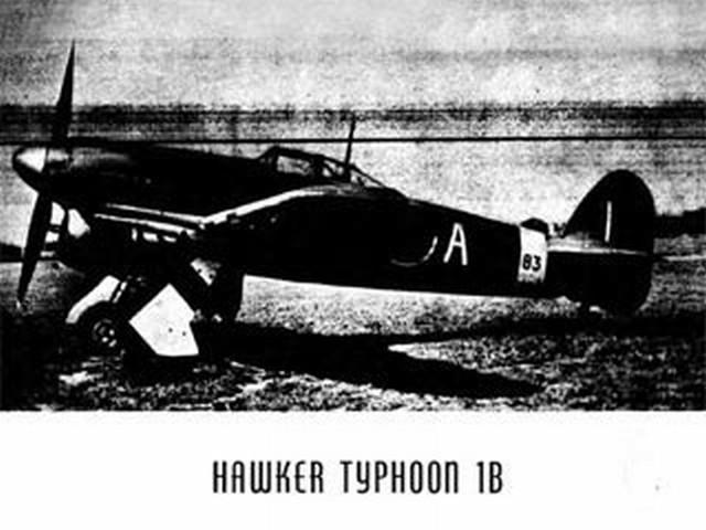 Hawker Typhoon 1B (oz1783) from Modern Hobbycraft 1943