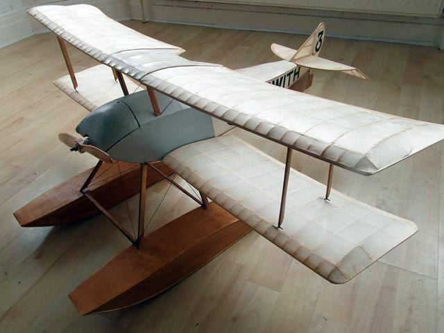 Sopwith Schneider (oz179) by John Simmance from Model Aircraft 1964