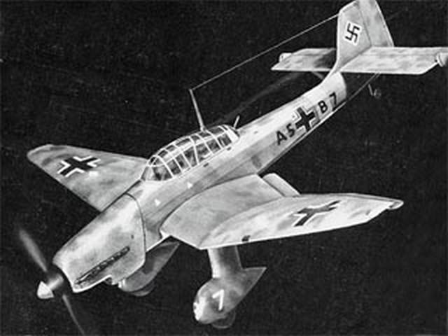 Junkers Ju 87D (oz1792) by Doug McHard from Aeromodeller 1957