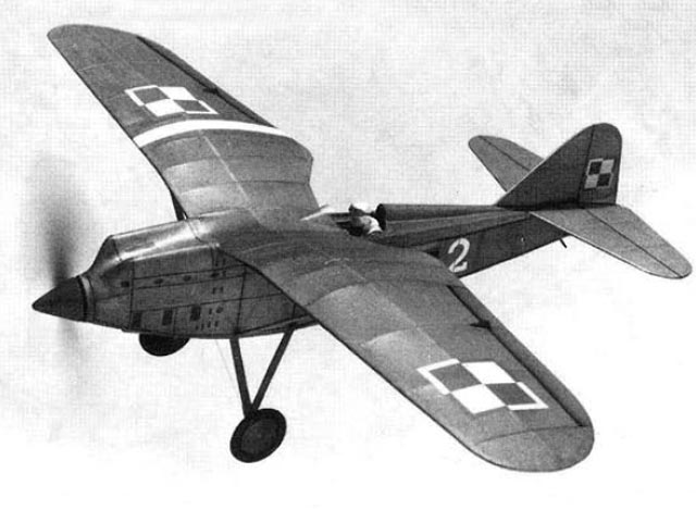 PZL P 8 II - completed model photo