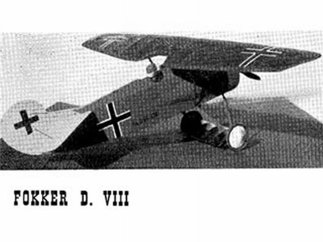 Fokker DVIII (oz1798) by Ron Moulton from Aeromodeller 1954