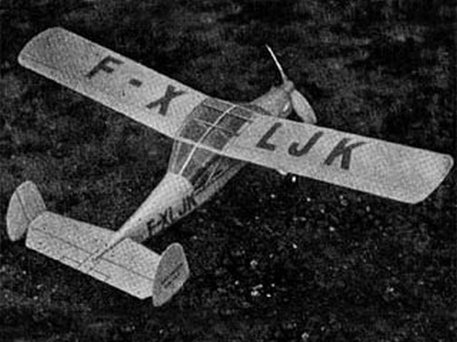 Max Holste MH-152 (oz1837) by George Woolls from Aeromodeller 1954