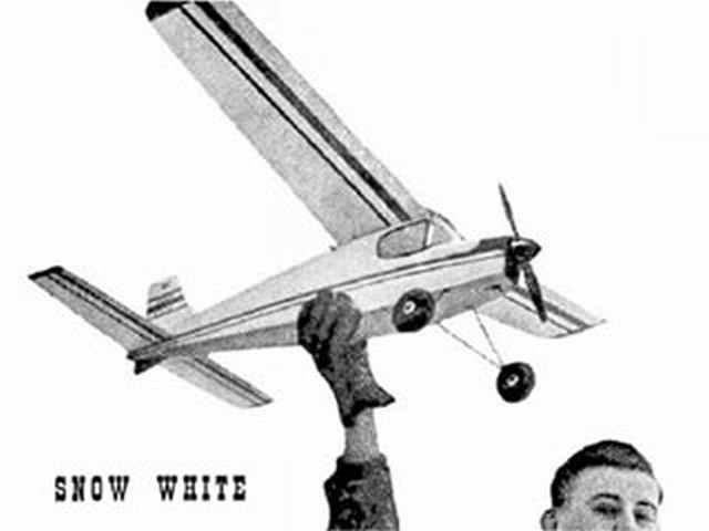 Snow White (oz1839) by Martin Bridge from Aeromodeller 1955
