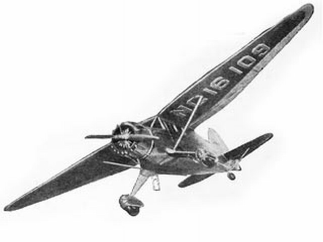 Stinson Reliant SR-7A (oz184) by Paul Karnow from Megow Models 1937