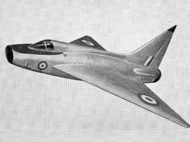 Boulton Paul P.111A (oz1873) by D Golding from Aeromodeller 1954
