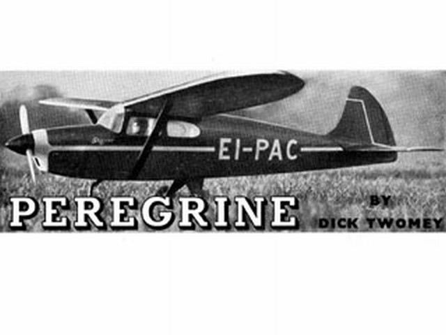 Peregrine (oz1874) by Dick Twomey from Aeromodeller 1954
