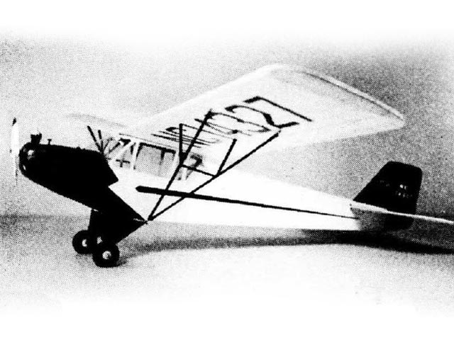 Taylor Cub F2 (oz192) by Ted Schreyer from American Modeler 1969