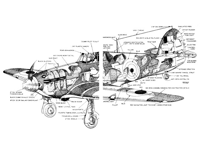 Hawker Hurricane (oz1926) by Walt Musciano from American Modeler Annual 1964