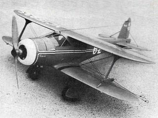 Beechcraft 17 (oz1948) by Walt Musciano from Model Airplane News 1976