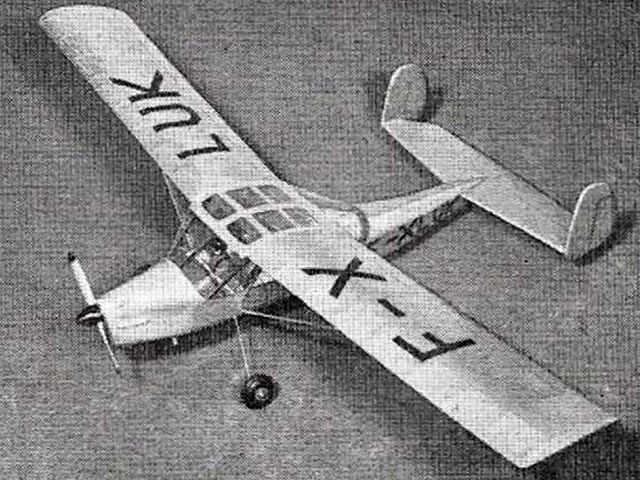 Max Holste MH.152 - completed model photo