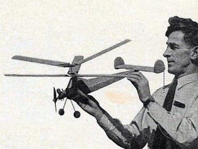 Contra-Gyro (oz1989) by L Ellis from Aeromodeller 1956