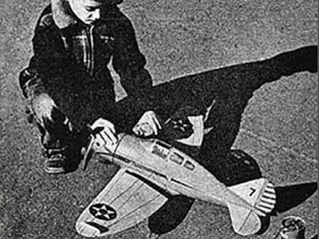 Seversky P-35 (oz1995) by Paul Palanek from Flying Models 1956