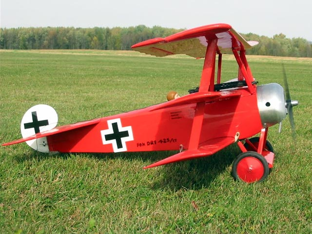 Fokker DR1 Triplane (oz2011) by PE Norman from Aeromodeller 1951