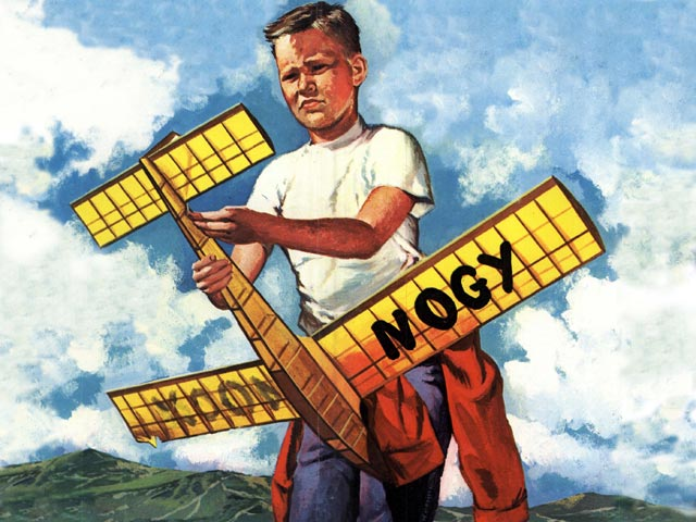 Nogy (oz2030) by Paul Gilliam, Bob Hunter from Flying Models 1959