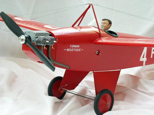 Farman Moustique - completed model photo