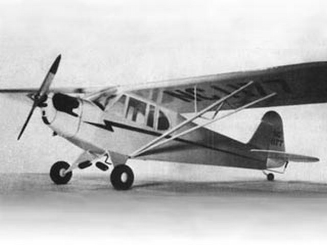 Piper J3 Cub (oz2058) by Herb Clukey from Flyline 1973