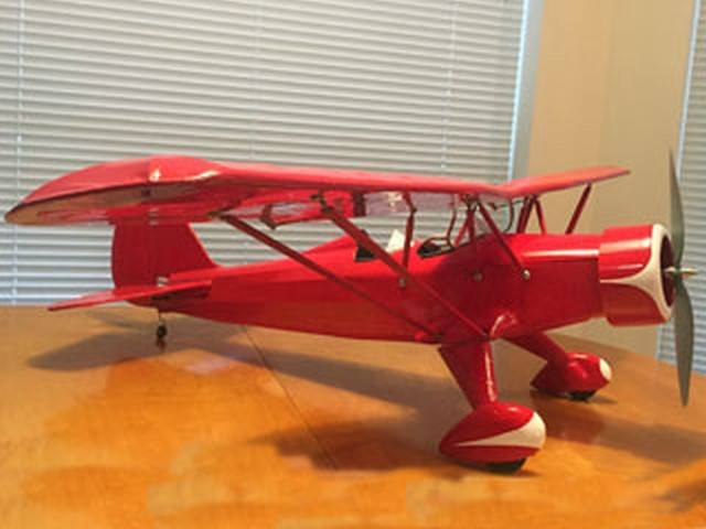 Stinson Model O - completed model photo