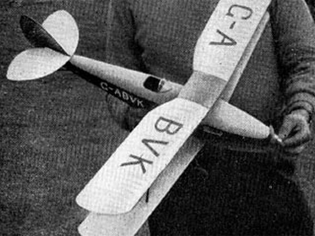 DH.83 Fox Moth - completed model photo