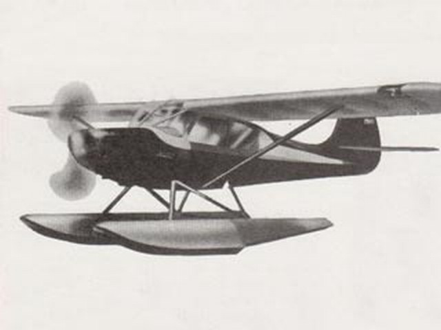 Aeronca Sedan (with floats) - completed model photo
