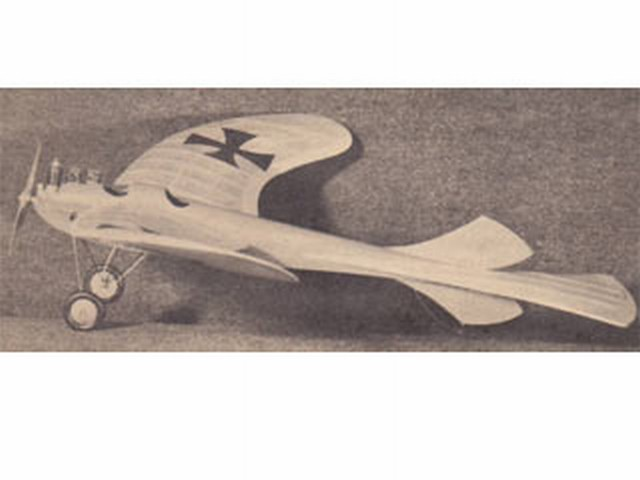 Rumpler Taube (oz2131) by Ted Enticknaps from Air Trails 1951