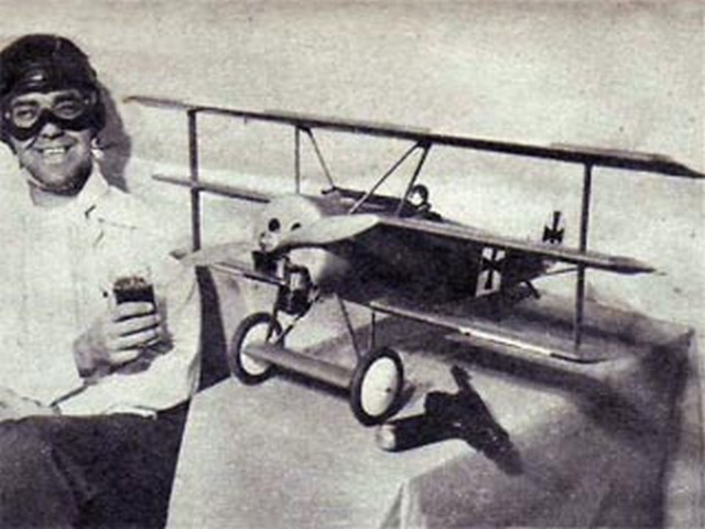 Fokker DR1 Triplane (oz2139) by Fred Fescharek from Young Men 1954