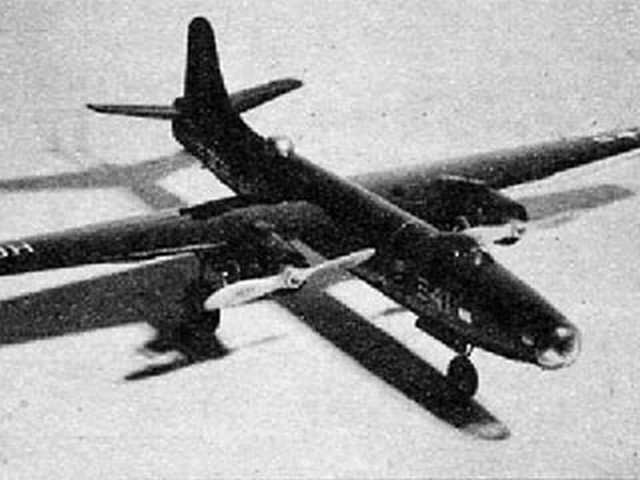 Martin P4M-1 Mercator (oz2140) by Frank Lashek, S Cal Smith from Air Trails 1954