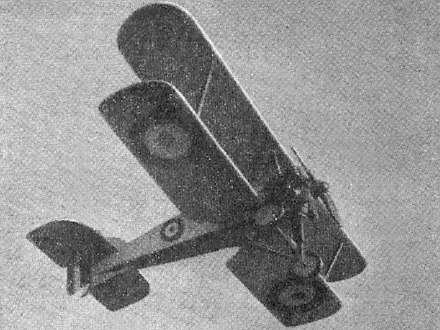 Gloster Gamecock (oz2151) by PE Norman from Aeromodeller 1951