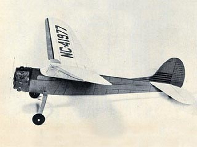 Cessna 195 (oz2172) by Paul Del Gatto from Model Airplane News 1961