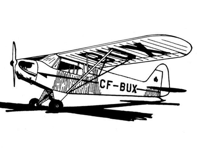 Piper Cub J3 (oz2177) by Normand Charlebois from Flying Models 1959