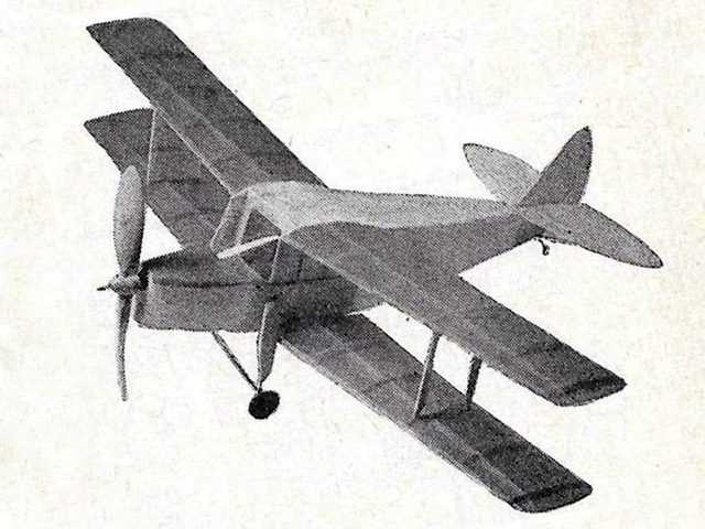DH Hornet Moth (oz2193) by Ron Warring from Model Aircraft 1957