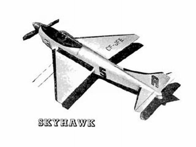 Skyhawk (oz2218) by L Ellis from Aeromodeller 1957