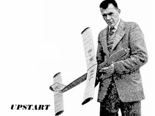 Upstart (oz2222) by George Woolls from Aeromodeller 1954