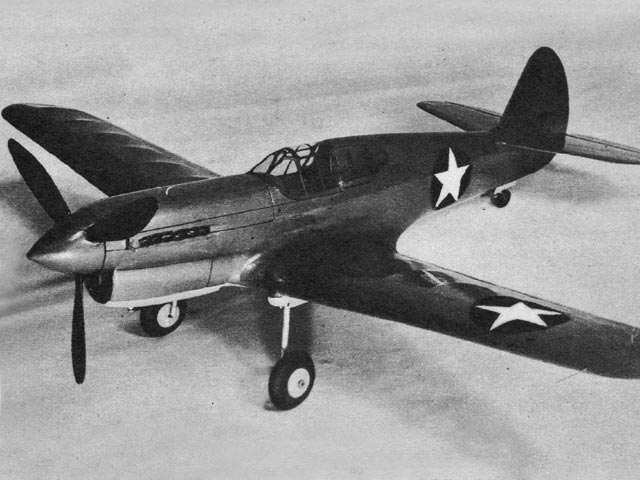 Curtiss P-40F Warhawk (oz223) by Claude McCullough from Air Trails 1943