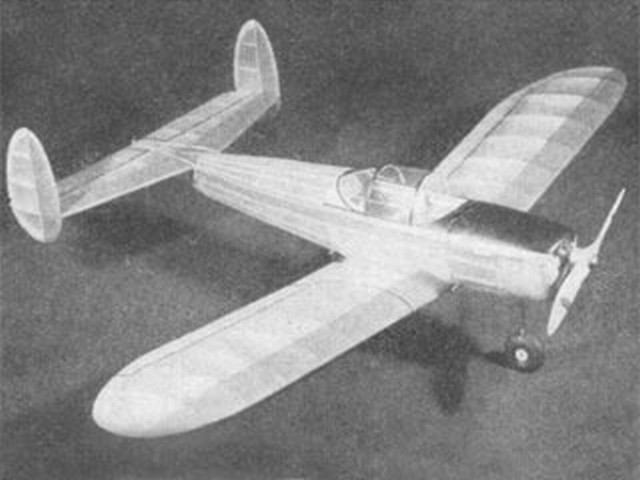 Erco Ercoupe (oz227) by Sid Struhl  from Model Airplane News 1941