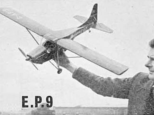 Edgar Percival E.P.9 (oz2313) by George Woolls from Aeromodeller 1959