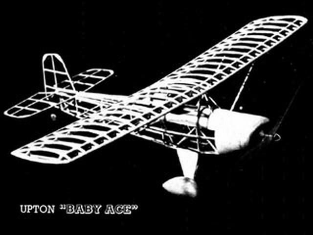 Upton Baby Ace (oz2323) by Walt Mooney from Aeromodeller 1979