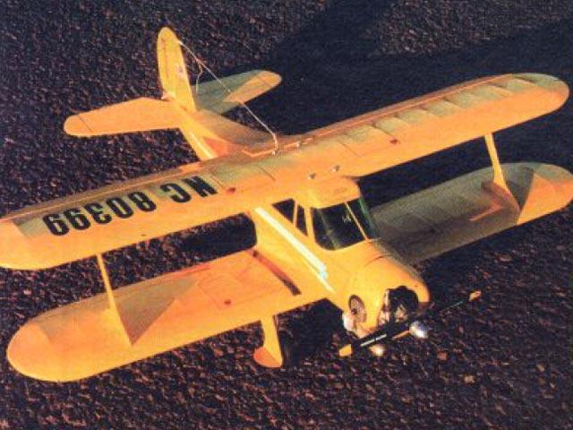 Stagger Wing Beech (oz2366) by Al Wheeler from Model Builder 1992