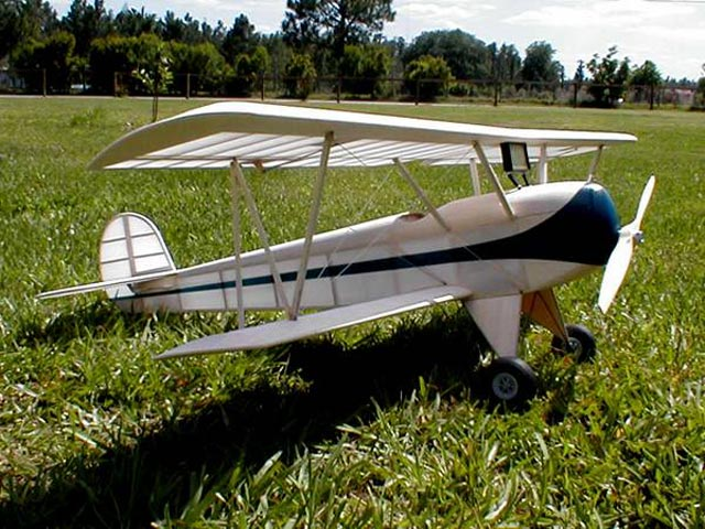Wiley Post A Bipe (oz2384) by Hurst Bowers from Model Aviation 1975