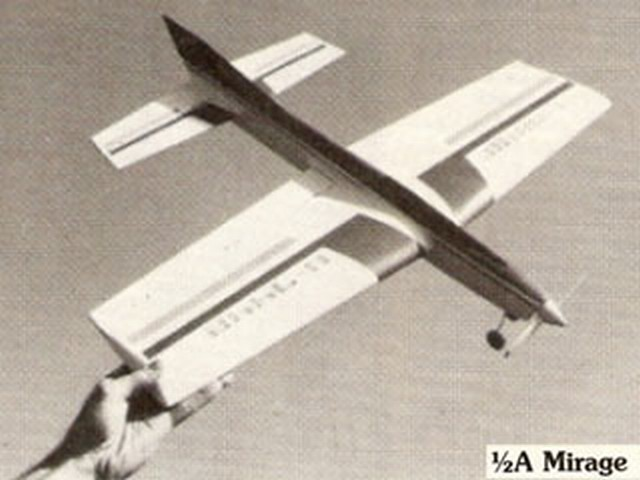 1/2A Mirage (oz2453) by Lou Wolgast from Flying Models 1980