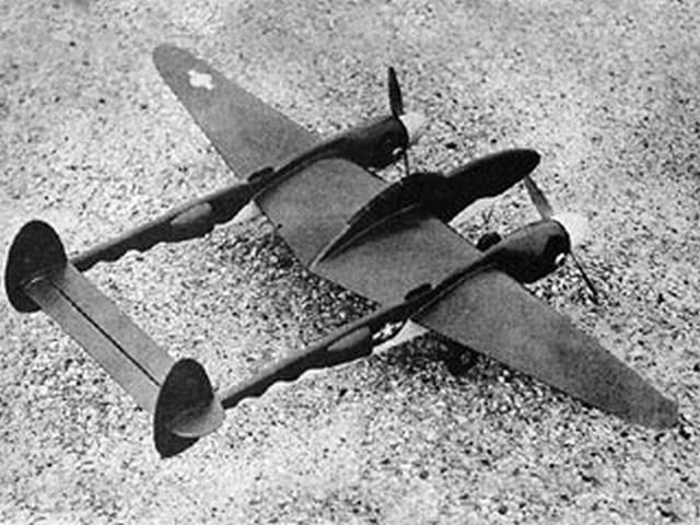 P-38 Lightning (oz2461) by Paul Palanek
