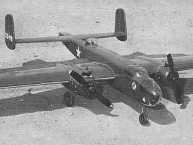 B-25 Mitchell - completed model photo