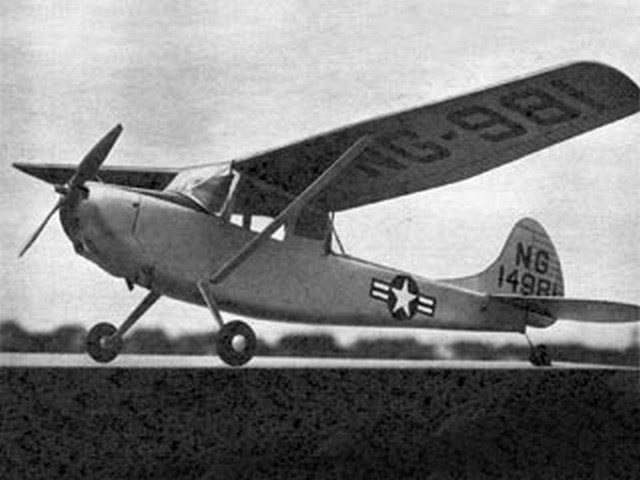 Cessna L-19 Bird Dog (oz2516) by Aubrey Kochman from Air Trails 1952