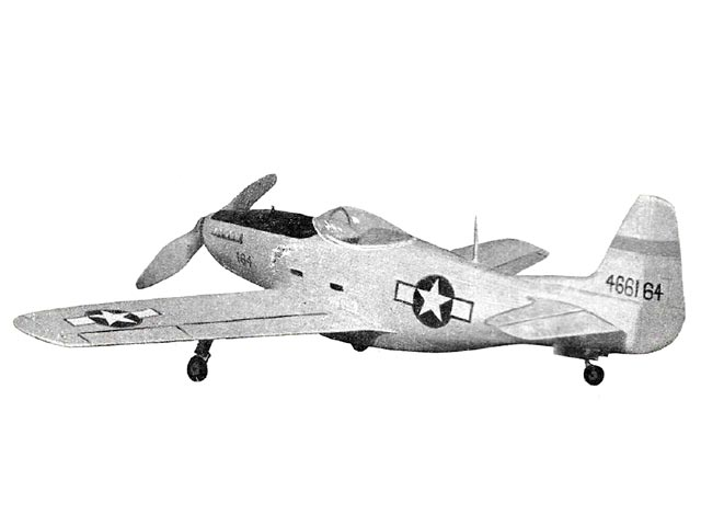 P-51D Mustang (oz2547) by PMH Lewis from Model Aircraft 1959