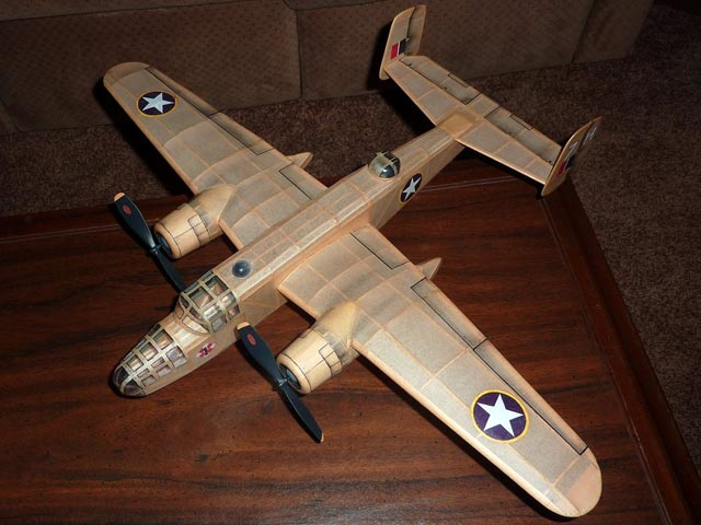 B-25 Mitchell (oz2575) by Mike Midkiff from Flying Models 1982