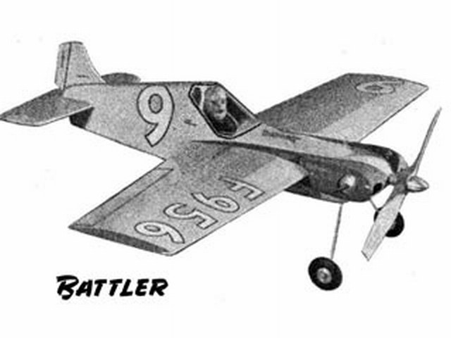 Battler (oz2606) by Ron Moulton from Model Aviation 1950